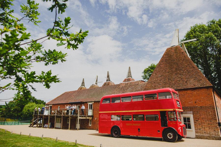 double decker bus wedding