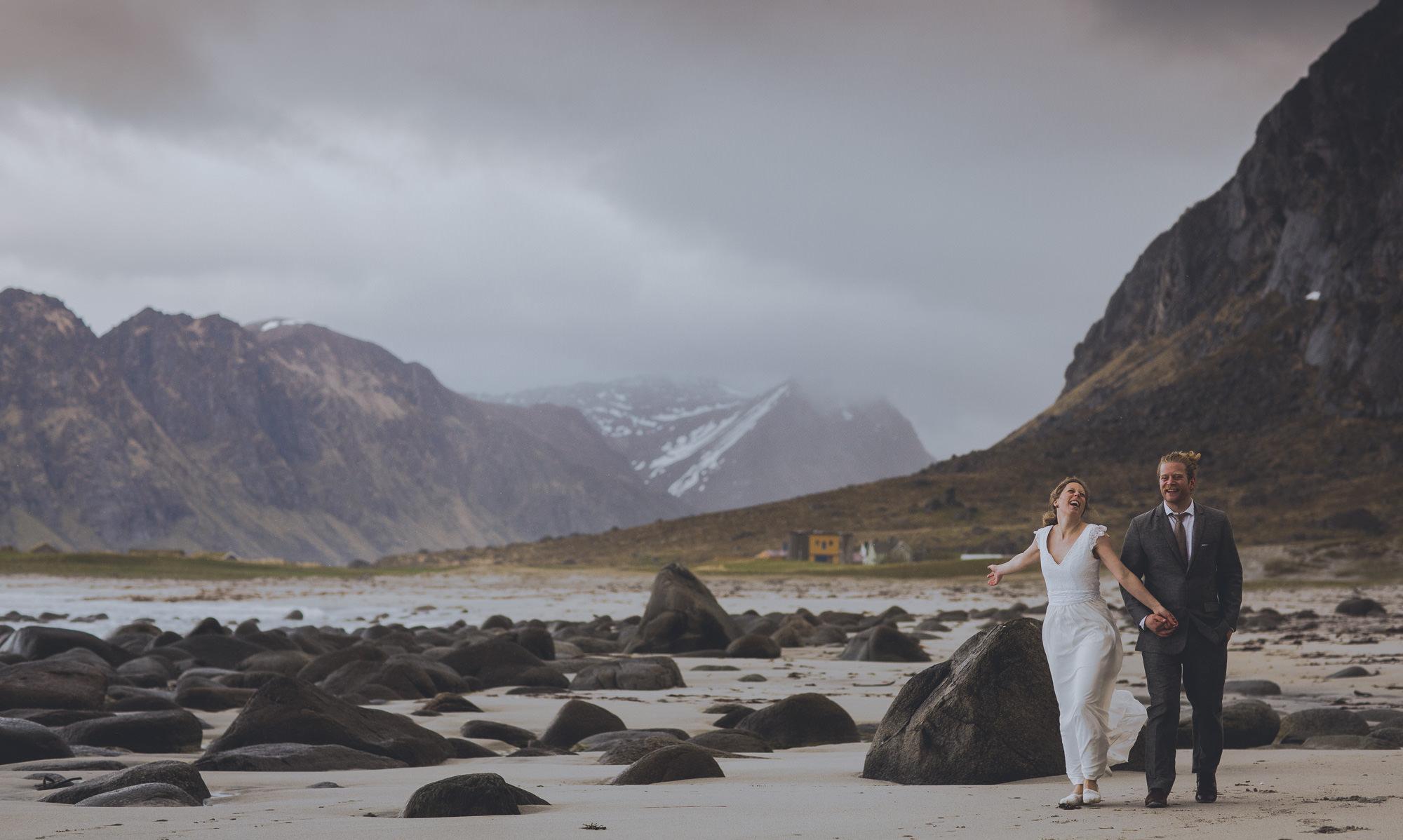 Uttakleiv beach wedding