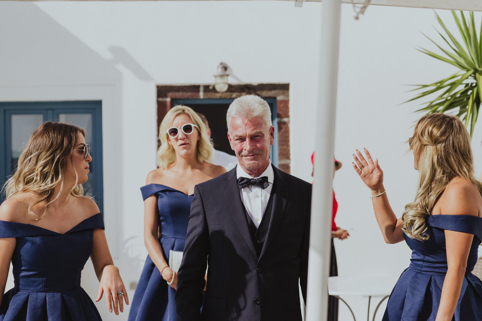 Natural Wedding Photography Santorini