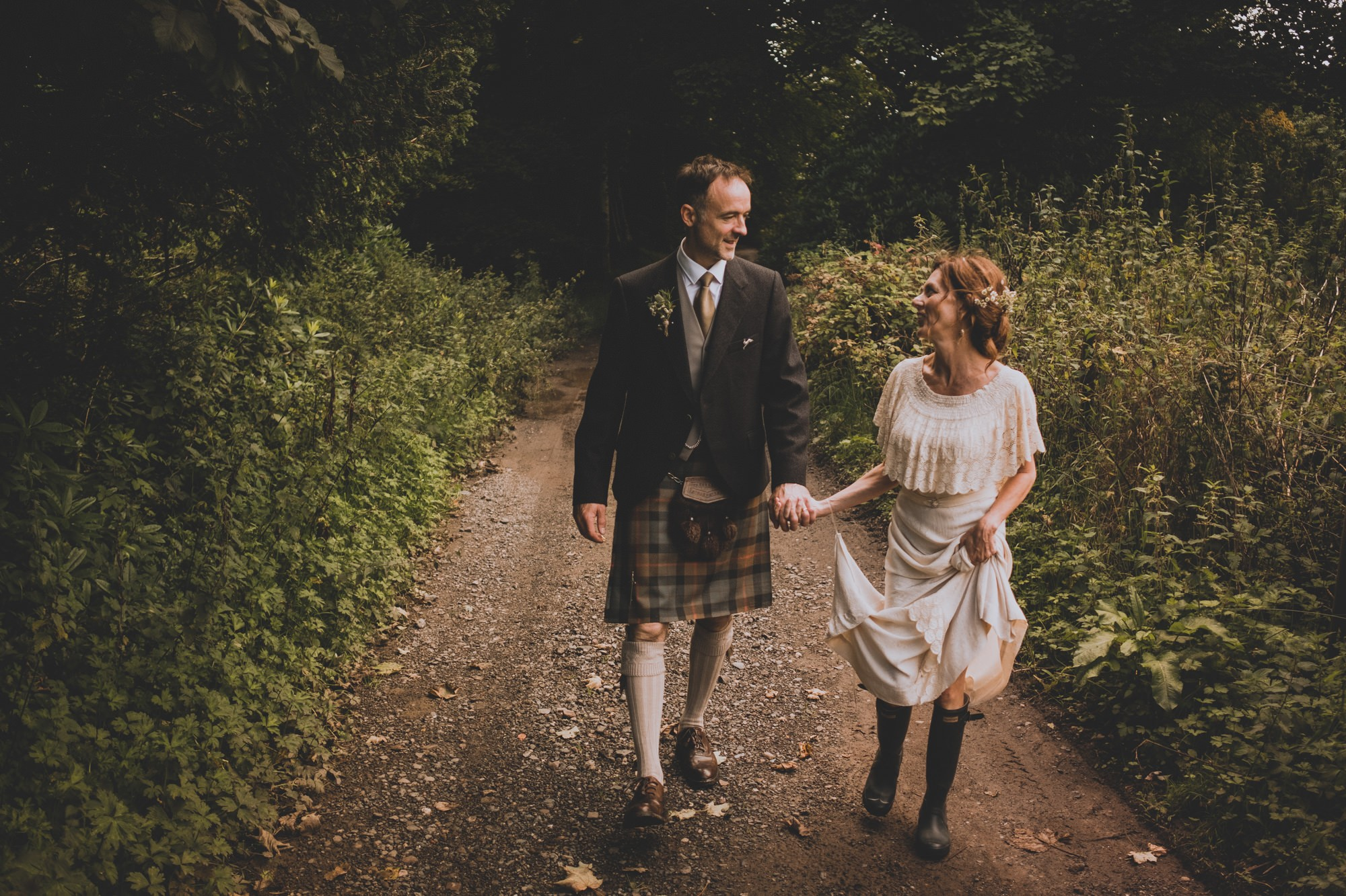 Natural Scottish Wedding